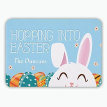 Hopping Into Easter Personalized Floor Mat - $12.99