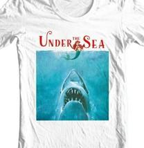 Under The Sea Shark T Shirt funny retro horror movie parody graphic tee shirt image 2