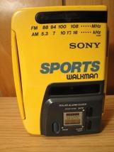 Sony Sports Walkman WM-AF58 Cassette AM FM Radio Solar Power vintage ele... - $11.00