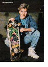 Mark Paul Gosselaar teen magazine pinup clipping squatting skateboard 90's Bop