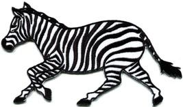 Zebra african equid wild horse safari wildlife applique iron-on patch ne... - $3.16