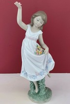 NEW $495 LLADRO #6580 GARDEN DANCE GIRL W/ FLOWERS SPECIAL EVENT LTD ED ... - $222.74