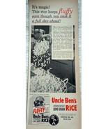 Uncle Ben's Fluffy Rice Print Advertisements Art 1950s - $9.99