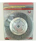 """KT Industries 5-3325 6"""" Medium Face Crimp Wheel Brush w 1/2 & 5/8 Arbor ... - $26.99"""