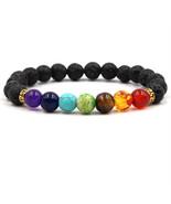 7 Chakra Healing Essential Oil Diffuser Natural Lava Stone Bracelet Arom... - $4.74