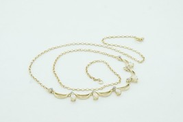 Women's Solid 14k Yellow Gold Fire Opal Diamond Bubble Chest Necklace #2... - $257.80