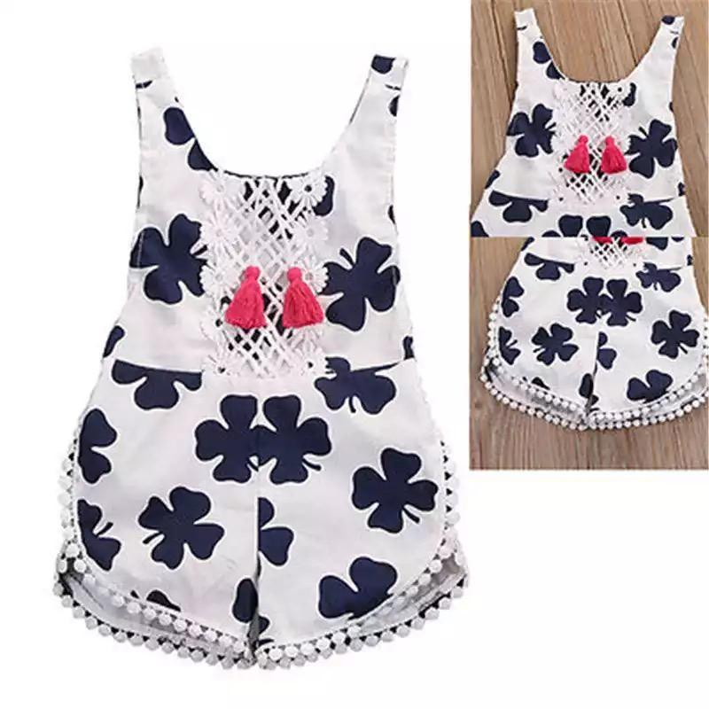 Baby Girls Romper leaf sleeveless clothes - $10.76