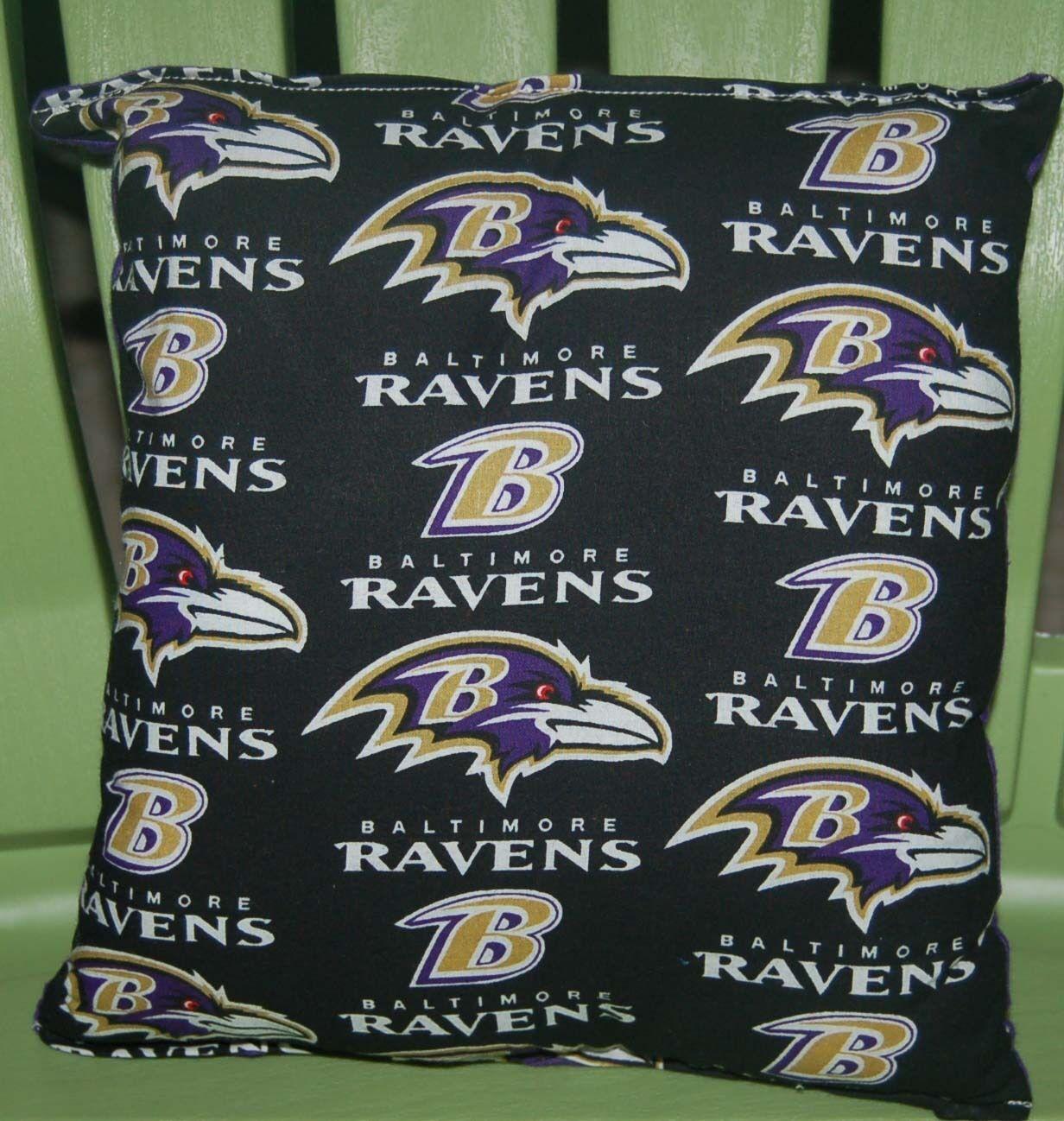 Ravens Pillow NFL Pillow Baltimore Ravens Pillow Football Pillow HANDMADE In USA