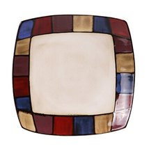 Kylin Express 10 Inches Creative Square Ceramic Dinner Plate Fruit Hand-Painted  - $48.14