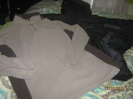 Columbia mens winter black jacket size L & Fleece jacket XL EUC - $29.69