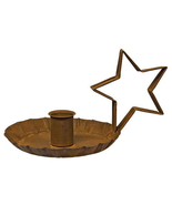 Star Handle Taper Holder, Rust in Color Primitive Lighting Table top  - $20.00