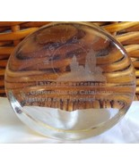 Vintage WYSTC Sitges 1992 Barcelona Spain Glass Etched Paperweight - $23.11