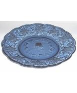 "New Princess House Sapphire Blue FANTASIA 8"" LUNCHEON/Salad/Dessert Plates - $9.90"