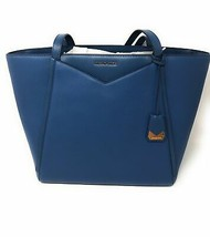 Michael Kors Whitney Large Top Zip Tote Leather in Dark Chambray - $197.99