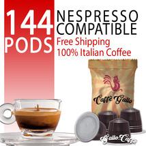Nespresso Compatible Capsules 144 Arabica Top Quality Pods 100% Italian ... - $39.00