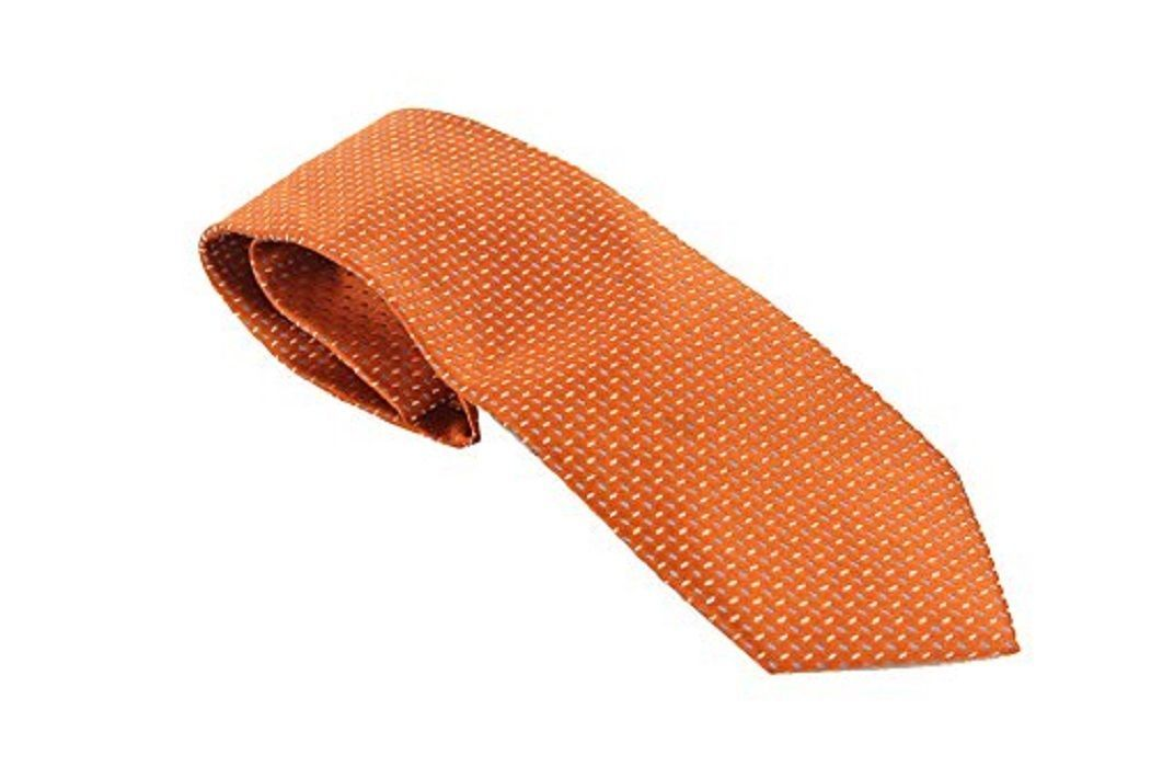 Geoffrey Beene New Orange Printed Necktie $55 DBFL