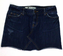 Gap Jeans Women's Cut Off Mini Skirt Jeans Size 4 W30 Dark Blue - $23.50