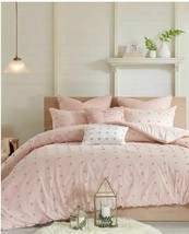 Urban Habitat Brooklyn Comforter 5-Pc Set Twin/Twin Xl Size - Pink Tufted Cotton image 1