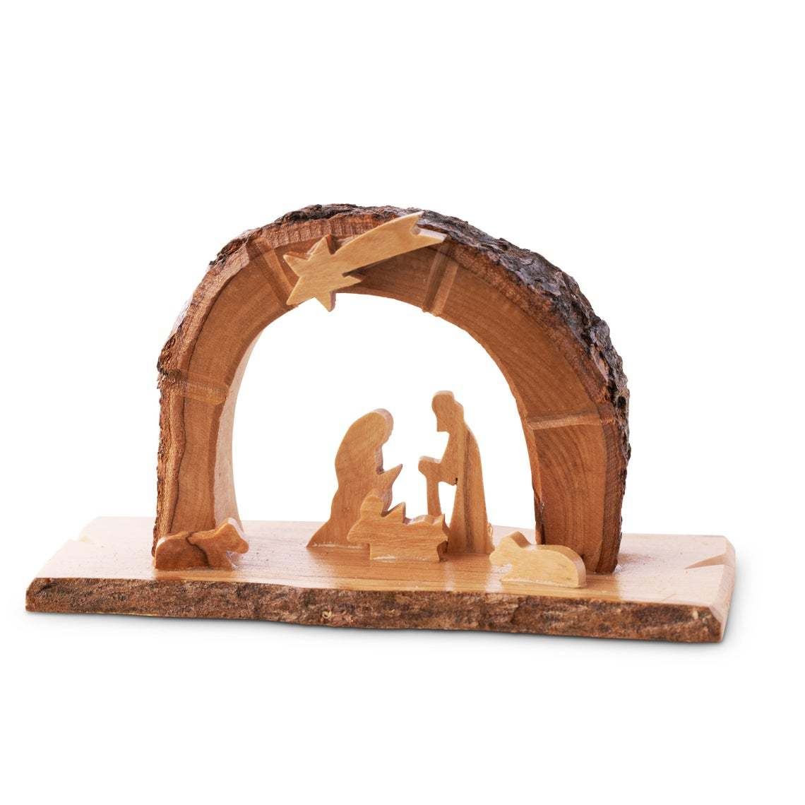 Primary image for Olive Wood Nativity grotto /carved nativity creche/ Holy Land