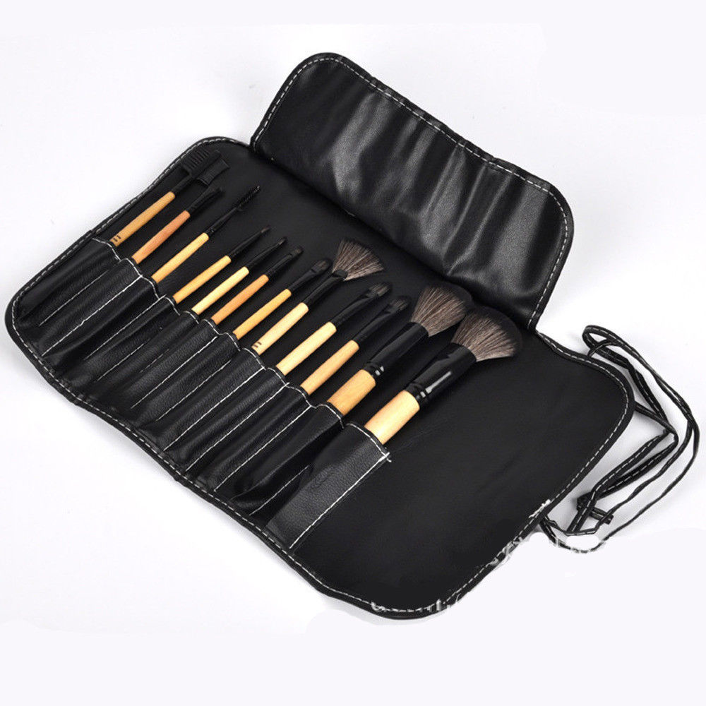 Pro Wool Makeup Brush Set Cosmetic Foundation Blending pencil brushes Kabuki Kit - $10.22
