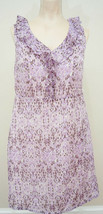 Merona Women Sleeveless Spring Dress Sz 4 Purple EUC - $5.45