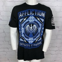 Affliction Mens S T-Shirt 2XL XXL GSP Georges St Pierre Live Fast Fleur ... - $21.51