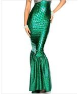 Women's Holographic Green Mermaid Tail Skirt - $38.95