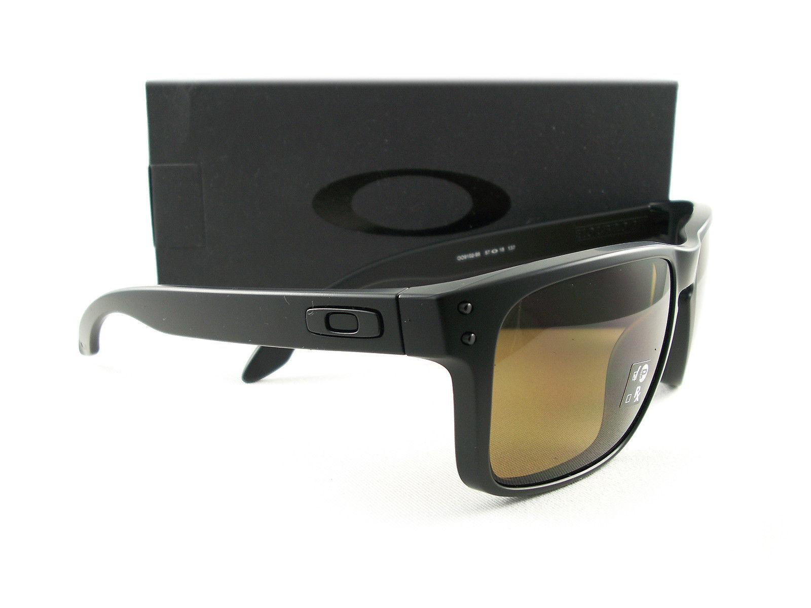 c44b7ff96ee Oakley Holbrook Sunglasses Matte Black Bronze Polarized OO9102-98 New  Authentic -  110.00
