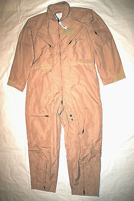 Primary image for NWT GENUINE US AIR FORCE TAN NOMEX FIRE RESISTANT FLIGHT SUIT CWU-27/P - 42S