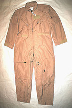 NWT GENUINE US AIR FORCE TAN NOMEX FIRE RESISTANT FLIGHT SUIT CWU-27/P -... - $113.85