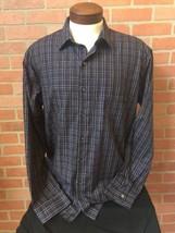 Van Heusen Men's Shirt Long Sleeve Button Down Front Plaid XL Slim Fit (... - $14.84