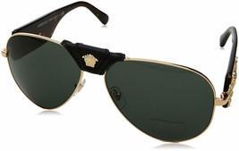 Pilot Aviator Crystal Gold/Black Unisex Authentic Italy Versace Sunglasses Unise - $174.23+