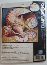 NEEDLEPOINT Dimensions Kit SHELL COLLAGE 7219 Beach Ocean Summer 5x5 - $8.99