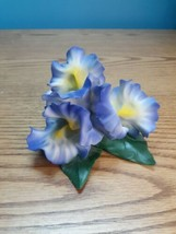 Rare Capodimonte Porcelain Artistiche-Fabar, Purple/Yellow Iris, Made In... - $44.50