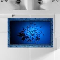 PAG 3D Bathroom Anti Slip Sea Fish Pattern Waterproof Floor Sticker Wash... - $33.76
