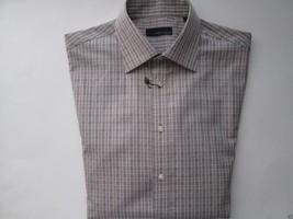 Joseph Abboud Plaid Spread Men's Dress Shirt Brown 15.5 | 33 UPC63  - $40.17 CAD