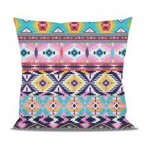 Bright Aztec Tribal Geometric Fleece Cushion - $28.99+