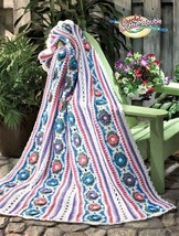 Z491 Crochet PATTERN ONLY Another Morning Glories Afghan Pattern - $7.50