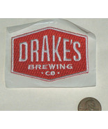 "Drake's Brewing Co. SL CA Tap Beer Since 1989 Red & White 2.5"" Embroider... - $10.87"