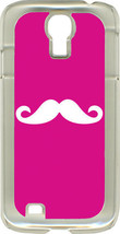 Fuchsia Pink and Royal Blue Mustaches on Samsung Galaxy S4 Hard or Rubber Case - $13.95