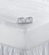 Living Quarters Automatic White Queen Size Heated Mattress Pad Dual Control - $74.99