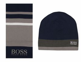 Hugo Boss Premium Scarf and Beanie Knitted Fabric Gift Box Set 50376789 image 6
