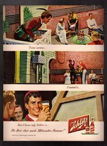 """1949 Vintage Print Ad Schlitz Romeo """" The Beer That Made Milwaukee Famous """" - $6.64"""