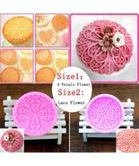 Round Lace Flower Flora Cupcake Fondant Cake Mould Bakeware Cake Molds - $16.19