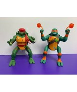Rise of the TTMNT Attack Action Figures Michelangelo Raphael Playmates Used - $24.74