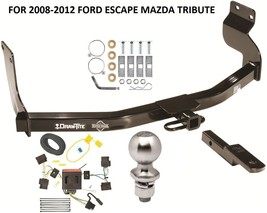 Complete Trailer Hitch Pkg W/ Wiring Kit For 2008-2012 Ford Escape Mazda Tribute - $227.97