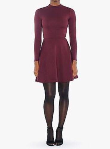Originale American Apparel Violette Vestito da Skater Porto Reale Burgundy XS image 4