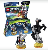 New Lego Batman Dimensions Fun Pack 3 In 1 Excalibur Batman ~ Bionic Steed Rocks - $12.86