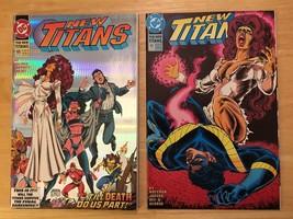 New Titans #100 & #101 1993 DC Comic Book Lot NM Condition 1st Print - $4.49