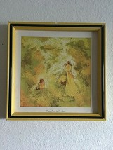 Vintage Home Interiors Picture BY M. STORM  Happy Hours Mother Baby Girl... - $17.77